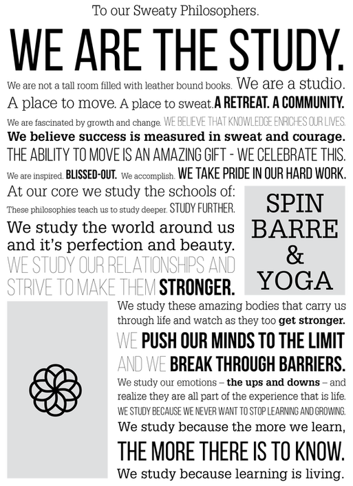 The Study | Spin, Barre, Yoga Studio Cochrane Manifesto
